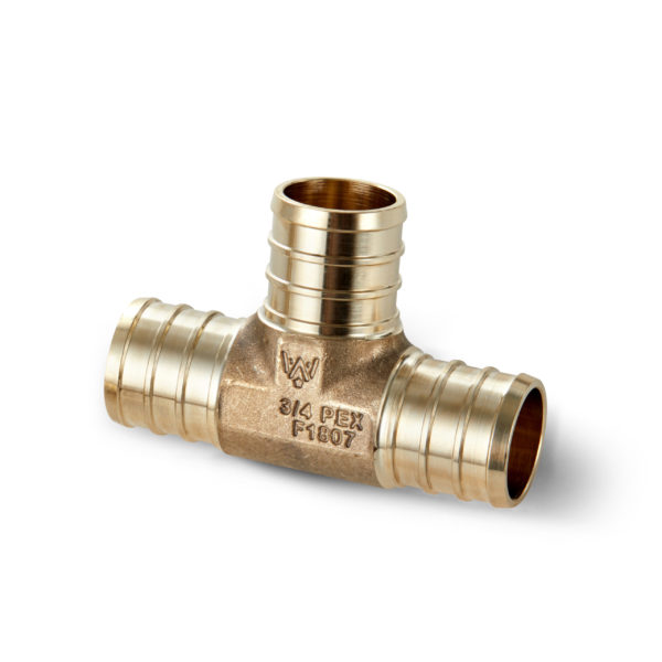 "3/4"" Brass PEX TEE Water Armor made with ECO Bronze"